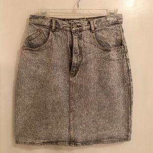 EUC Vintage Jordache Studio Grey Wash Denim Skirt